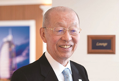 Hospitality tourism technical school principal Hiroshi Nakamura